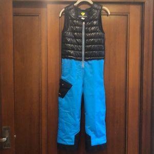 """Obermeyer """"Chilkat"""" kids lined ski/snow bibs"""